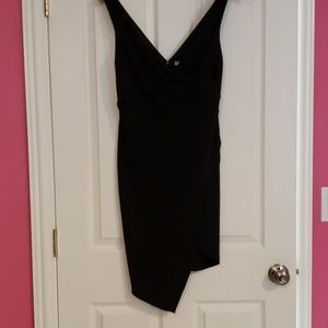 Cross Over Dress Black